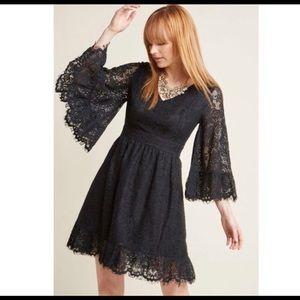 a28cd583a08b5 Modcloth Dresses - ModCloth Through the Bluebells black Lace Dress
